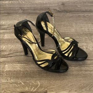 Hush Puppies Black Ankle Strap Heels